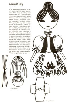 fakanál-lány Wooden Spoons, Plushies, Puppets, Dolls, Manualidades, Drawing Drawing, Baby Dolls, Stuffed Animals, Puppet
