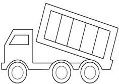 Trucks Dump Truck Coloring Page Printable Fire