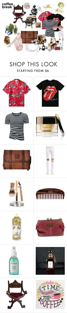 """""""When Boys Drink Coffee"""" by loveauroraleigh ❤ liked on Polyvore featuring Gucci, Hot Topic, Chanel, STS Ranchwear, April 77, Cedes, Uppercut, Fornasetti, The British Belt Company and Sachajuan"""