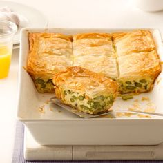 Asparagus Phyllo Bake. I used mont jack cheese instead of the swiss. Pretty time consuming but DELICIOUS!