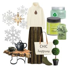 """green tea"" by ioana-constantin-1 on Polyvore featuring Dodo Bar Or, Uniqlo, Straw Studios, DutchCrafters, Höganäs Ceramic, Improvements, Fuji, Aerosoles, Tony Moly and Jars"