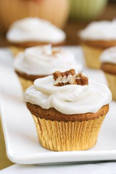 Keep this family favorite around for the holiday season. Mashed sweet potatoes give the cupcakes extra moistness, while a myriad of spices including cinnamon and nutmeg, spice up the traditionally sweet dessert. A simple Cream Cheese Frosting and a sprinkle of chopped pecans is all that's needed on top.  Recipe: Sweet Potato-Pecan Cupcakes With Cream Cheese Frosting