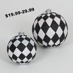 Christmas Decorations-#Harlequin in #Black/White makes Christmas pop
