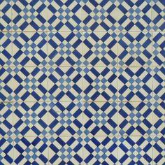 indigo tiles in a geometric pattern, Lisbon