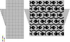 fair isle pattern mittens charts | knit: fish fair isle/knitting chart: Fair Isle Knits, Fish Fair, Isle ...