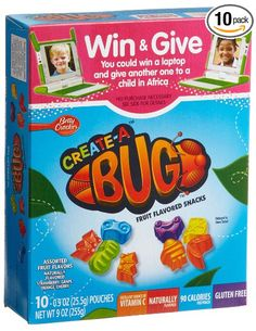 Betty Crocker Create A Bug Fruit Shapes 9 Ounce Boxes Pack