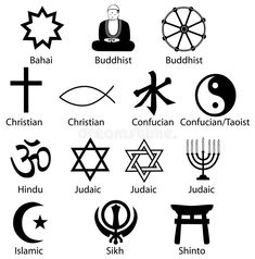 World Religion Symbols stock vector. Illustration of bahaism - 8129331 Occult Symbols, Religious Symbols, Religious Education, Buddhist Symbols, Religious Studies, Religions Du Monde, World Religions, Yi King, Symbols And Meanings
