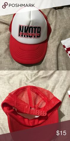 New Kids On the Block trucker hat NKOTB trucker hat from the Total Package Tour. I got 3 of them from an All Access pass with my family. I only need one! The 2 I am selling have never been worn. Accessories Hats