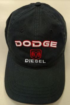 8e5318c51ab Dodge Diesel Ram Hat Black Ball Cap H3 Sportsgear Cotton Adjustable. Kadie  Hamner · Hats ...