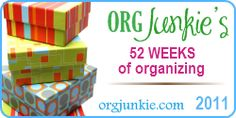 52 weeks of organizing - great for any time of year. Makes life manageable, too.