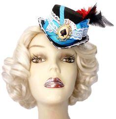 Alice Wonderland bibi Mini chapeau haut de par JenkittysCloset