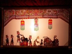 Go to the theater for Chinese Shadow Play show
