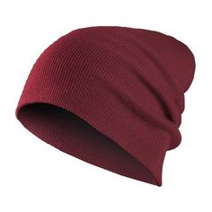 MasterDis Beanie Basic Flap Hat Maroon found on Polyvore featuring accessories, hats, hair, flap hat, maroon beanie and beanie hats