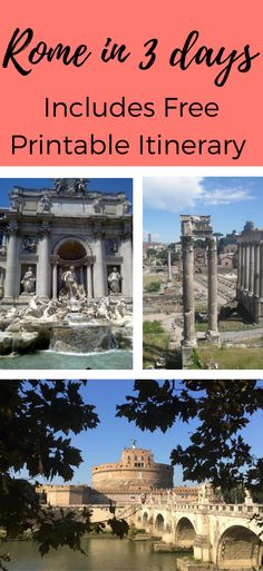 A guide to Rome, Italy in 3 days. Covering all of Rome's must see sites, things to do and where to eat. A full itinerary can be printed for free to take along on your trip to Rome, the Eternal City.