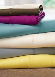 Fall into a deep, peaceful sleep surrounded by the soft and smooth Bamboo Rayon Flat Sheet; plush, luxurious and available in an array of colors, including bright, colorful hues to enliven your master suite.