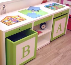 Brinquedoteca bancada Kids by Apronta www.casaprontaquartos.com.br