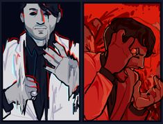 Doodles n' Draws Epic Art, Amazing Art, Markiplier Fan Art, Darkiplier And Antisepticeye, Cryaotic, Youtube Memes, Jack And Mark, Drawing Expressions, Art Memes