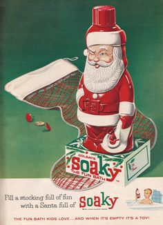 santa soaky christmas ad from womans day magazine december 1962 - Day After Christmas Ads