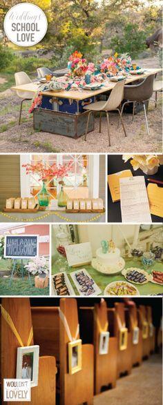 High School Sweetheart Wedding, Playground Love, School inspired wedding, teacher wedding, Wouldn't it be Lovely