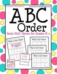 ABC Order Introduction - Hands-On Worksheets for Grades K-1- free