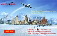 Are you searching cheap flights to anywhere in the world? So, worldbesttravels offering cheap flights to worldwide up to 70% off.