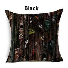 Bird throw pillow Vintage Style Creative Arts couch cushions for home