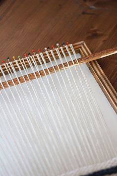 Fabulous instruction on making a weaving loom from a picture frame!