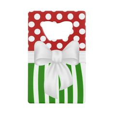 Christmas Holiday Festive Reversible Design Credit Card Bottle Openers. http://www.zazzle.com/christmas_holiday_festive_reversible_design-256544553291533731?rf=238575087705003771