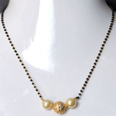 Black pearl mangalsutra
