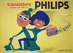 Galerie Montmartre - Philips Transistors (c.1950) by Fix-Masseau