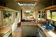 Bus rénové en habitation