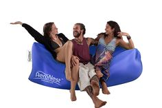AeroNest Air Lounger. Quick Inflatable, Lightweight, Packable, and Comfortable. For Beach, Camping, and Festival relaxation. The Air Couch Beanless Bag Hammock ** For more information, visit image link.