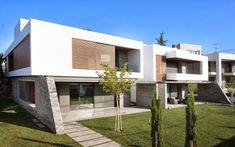 Diseño de dos casas modernas en un sólo terreno, planos y diseño interior   Construye Hogar