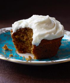 Soooo Yummy.  Pumpkin Spice Cupcakes with Orange Sour Cream Frosting.  Frosting could definitely be used on other cakes and the like.