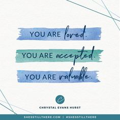 You are loved.You are accepted.You are valuable. Kingdom Woman, Christ Quotes, Strength Of A Woman, Identity In Christ, Lyric Quotes, Lyrics, Believe In God, Inspirational Message, Words Of Encouragement
