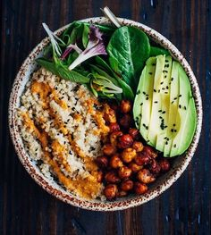 Some people are like your a vegan like what do you eat! Well there is so much food out there in the world and as a vegan the verities are endless and I know the animals and earth I love will be replenished...Buddha bowls are my obsession! #buddhabowl #veganfood #veganliving #avocado #quinoabowl #greens #loveearth #yogalove #vegan #yummyfood #foodphotography