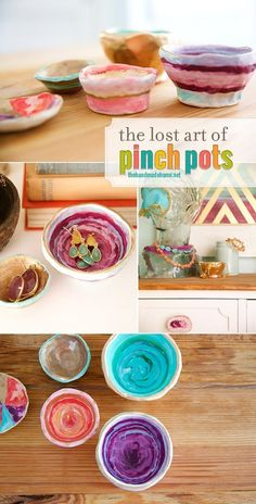 Lost Art Of Pinch Pots.  Every child in the world should experience making a Pinch Pot... no really... they should!  It is so easy... so personal and so rewarding for them plus they make a great little gift for someone special  Come an see how simple it is to let your child's inner Potter come out!  #PinchPots #DIYPinchPots #TheLostArtOfPinchPots