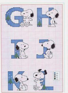 Schema Punto Croce Alfabeto Linus 2