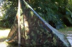 A Simple But Strong Tarp Shelter - http://www.survivorninja.com/a-simple-but-strong-tarp-shelter/