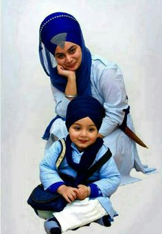 Sikh Mother and Child