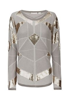 'mad, mad' sequined-knit sweater sass & bide f.w2013