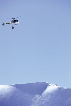 heli snowboarding