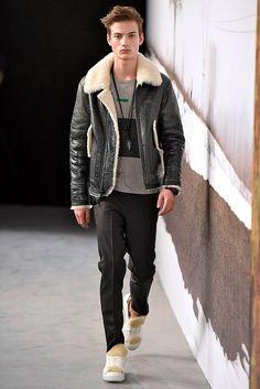 Serge Rigvava - Man in Sheepskin Shearling Jacket