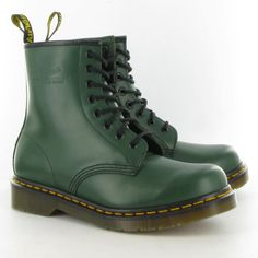 dr. martens 1460 in green smooth leather. www.dms.com