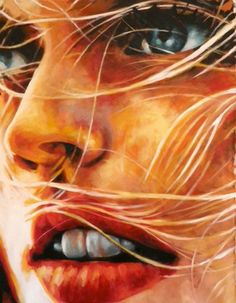 "Saatchi Art Artist thomas saliot; Painting, ""Blond close up(sold)"" #art"