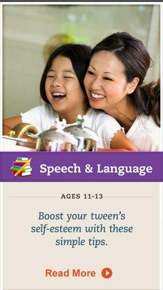 Help boost your tween's self-esteem with these tips. Click for more. #SpeechandLanguage