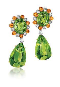 Verdura Peridot earrings