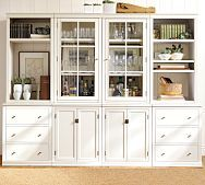 Pottery Barn - You can never have too much storage Wall Storage Systems, Storage Ideas, Storage Units, Media Storage, Storage Solutions, Barn Storage, Storage Room, Craft Storage, Toy Storage