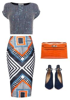 """""""Untitled #69"""" by thabile-zungu on Polyvore featuring Christian Louboutin, Coast and Hermès"""
