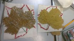 Finally sewed down my leaves.